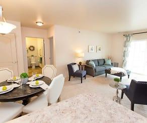 Living Room, Eastland Court Senior Apartments