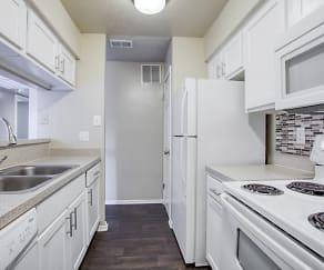 Kitchen, Pinehurst Place Apartments