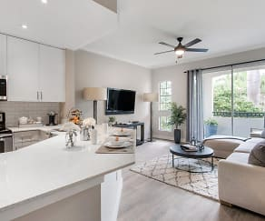 Promenade at Aventura Apartments - Kitchen and Living Room, Promenade at Aventura Apartments