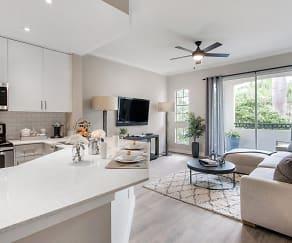 Promenade at Aventura Apartments - Kitchen and Living Room, Promenade at Aventura Apartments