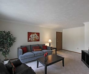 Living Room, Laurelwood Apartments and Townhomes