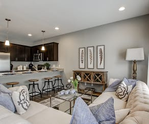 Living Room, Baldwin Square Townhomes