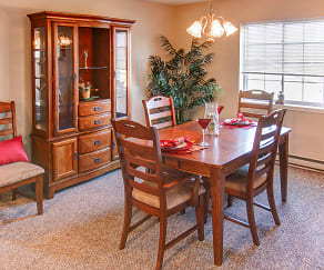 Dining Room, New Legacy Apartments