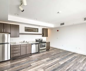 Kitchen, Market City Center Apartments