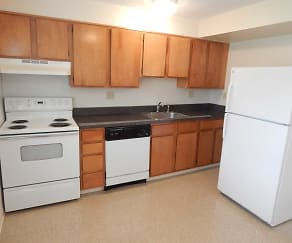 Kitchen, Meadow Landing Apartments