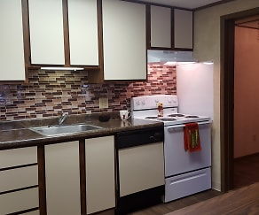 Kitchen, Red Deer Apartments