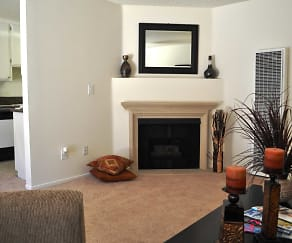 Living Room, Ridgeview Apartments