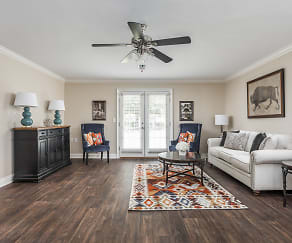 Open Concept Renovated Living  Room - Live Oak Trace Apartments, Live Oak Trace