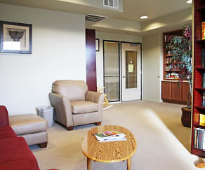 Living Room, The Willows at Wells Senior Community