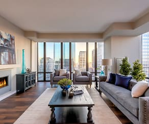 Living Room, The Nic On Fifth Apartments