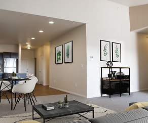 Select Units Feature Large Vaulted Ceilings, Commons and Landing at Southgate
