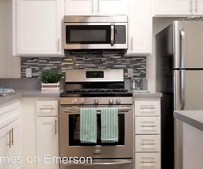 Kitchen, 8600 Emerson Avenue Leasing Office