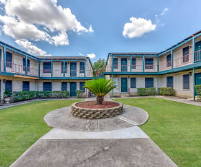 Courtyard, Tara Apartments