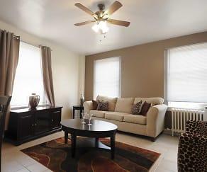 Living Room, Historic Stolp Island Apartments