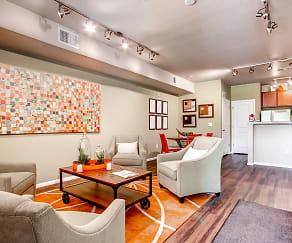Living Room, Maple Leaf Apartments