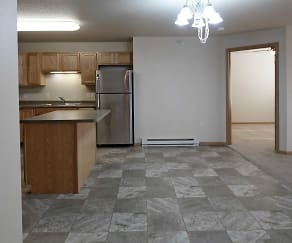 Dining Room, Northern Plains Apartments