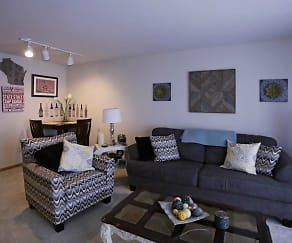 Living Room, Six Points Apartments