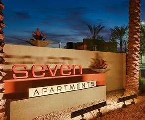 Community Signage, Seven Apartments
