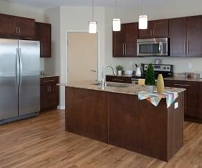 Kitchen, The Gardens Apartments