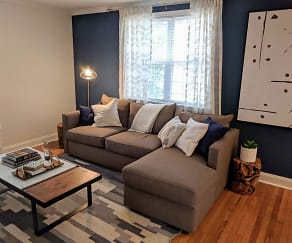 Living Room, The Villas at Bryn Mawr Apartment Homes