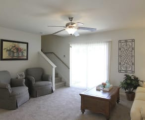 Living Room, Retreat at Henderson Lakes Apts