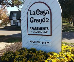 Community Signage, La Casa Grande Apartments