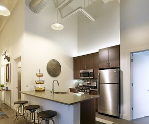 Kitchen, Parkway Lofts