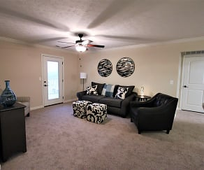 Living Room, Shelby Oaks Apartments