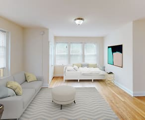 Living Room, Dahlia Apartments