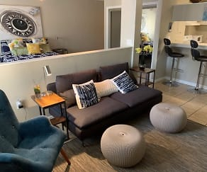 Living Room, Summit at Campus Edge Apartments