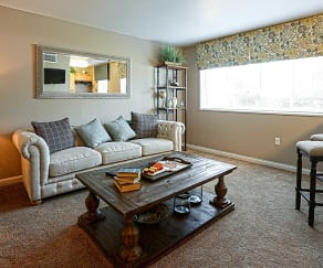 Living Room, The Verona at Suitland Metro