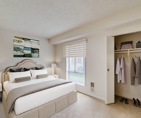 Bedroom, River Pointe Apartment Homes