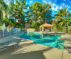 Pool, Twin Palms Apartments