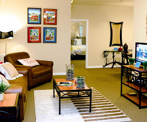Living Room, Campus Creek Apartments