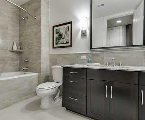 Bathroom, Flats at Uptown