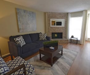 Living Room, Douglaston Villas and Townhomes