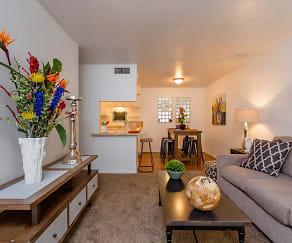 Living Room, Pepper Tree Apartments