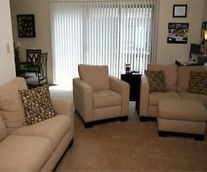 Living Room, North Hills Apartments, LLC