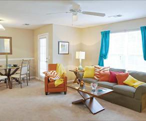 Living Room, Meridian Club Apartments
