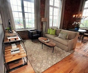 Living Room, Drayton Mills Loft Apartments