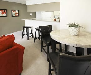 Dining Room, Creekwood Apartments