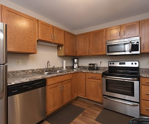 Kitchen, Woodridge Apartments