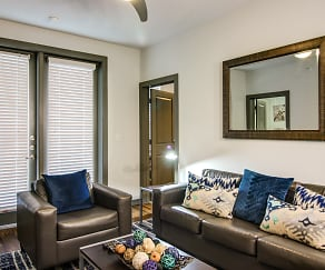 Living Room, Campus Vue Student Apartments