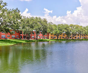 Lake, Windtree Apartments