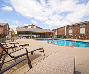 Pool, Casady Apartments