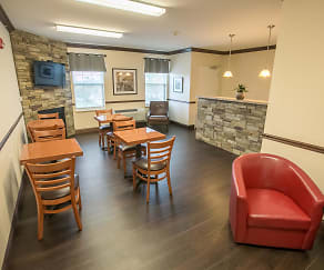 Cafe Room, Oak Hill Senior Apartments