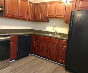 Kitchen, Knollwood Apartments
