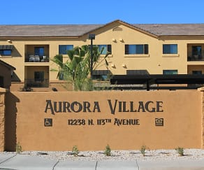 Community Signage, Aurora Village