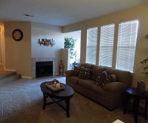Living Room, The Landings at Edgewater