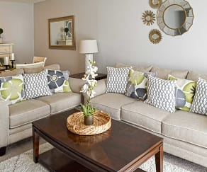 Living Room, Serenity Apartments at The Park